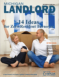 Current issue of Michigan Landlord Magazine
