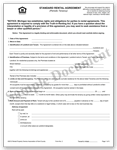 STANDARD RENTAL AGREEMENT FORM ICON