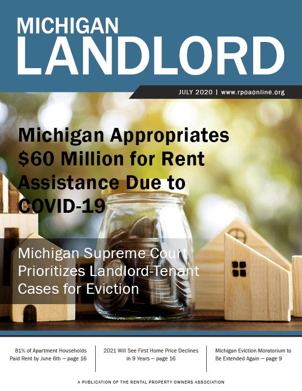 Current issue of Michigan Landlord Magazine